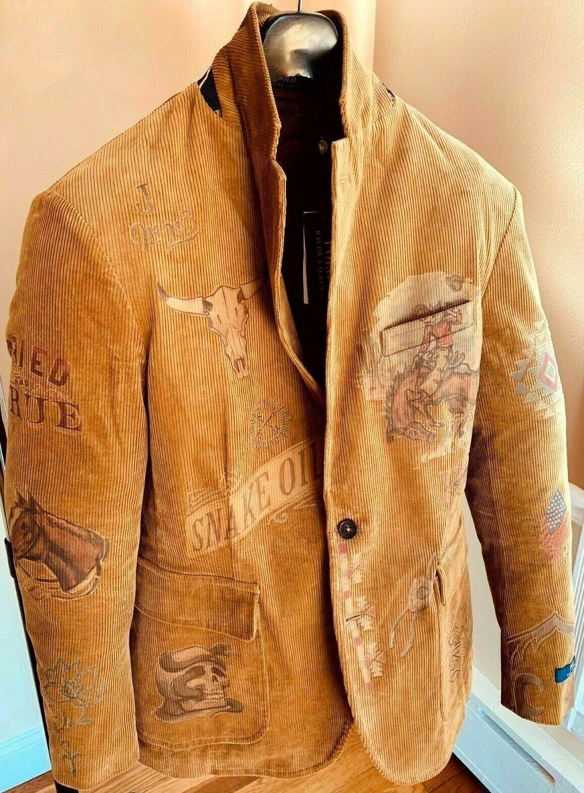 Polo Ralph Lauren Rodeo Western Colorado Cowboy Artwork Jacket Sport Coat Blazer Ebay Ralph Lauren Leather Jacket Menswear Polo Ralph Lauren Mens [ 1569 x 1156 Pixel ]