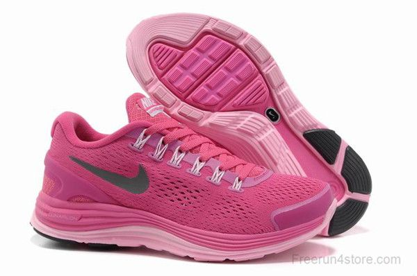 on sale 5c693 8c192 Nike LunarGlide 4 Fireberry Pink Silver Womens Running Shoes ...
