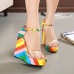 Belli Women's Shoes Multi-color Wedge Heel 12cm and up Pumps... – USD $ 26.99