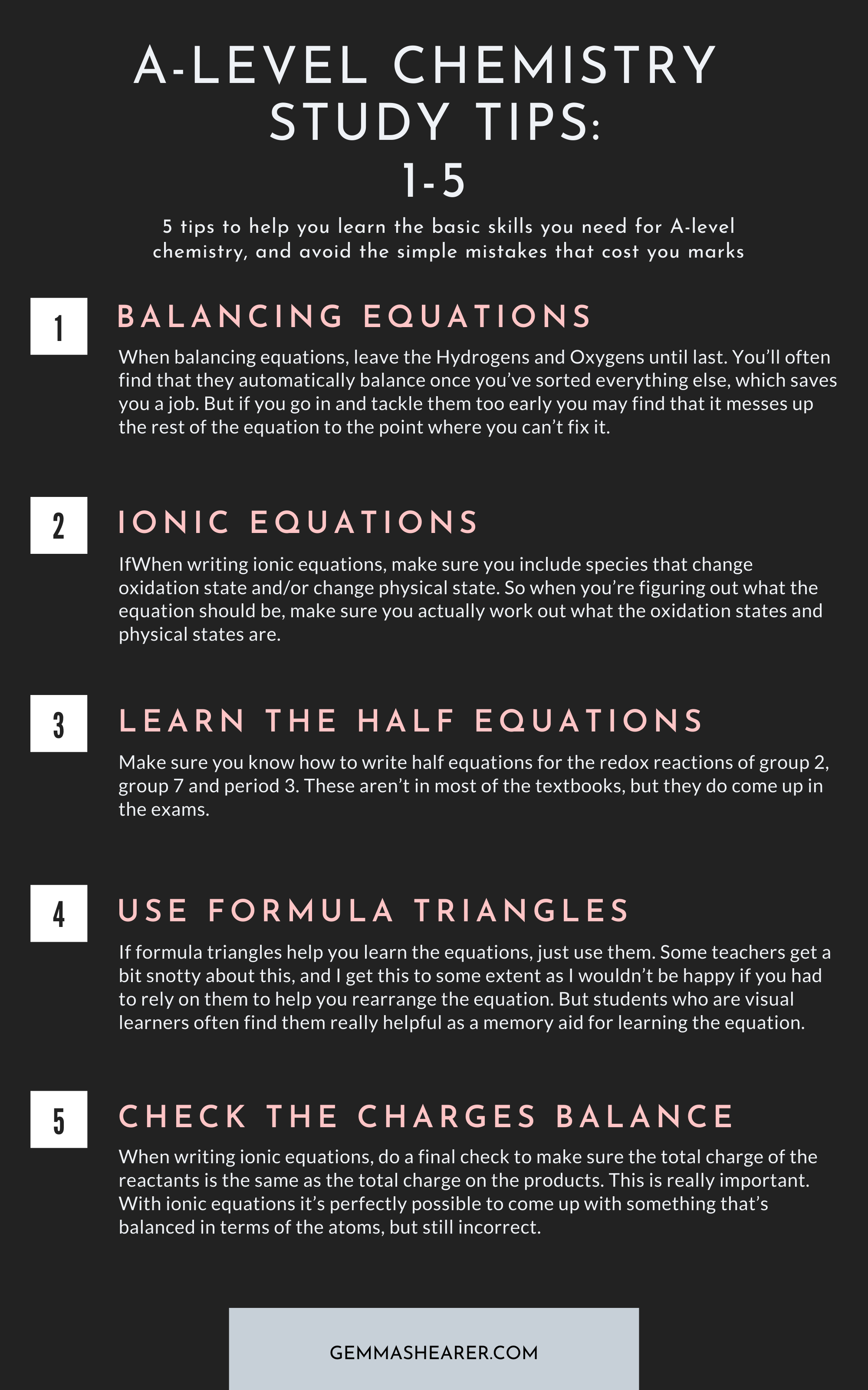A Level Chemistry Study Tips 1 5 Chemistry Study Guide Chemistry Lessons Study Tips