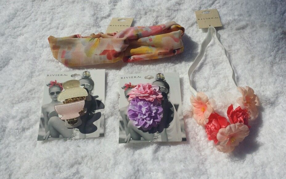 6 Piece Lot of Hair Accessories By Riviera Headbands Headwrap Jaw Clips Barettes in Clothing, Shoes & Accessories, Women's Accessories, Hair Accessories   eBay #ebay #hairaccessories #headbands #jawclip #barrette #christmasgift #riviera
