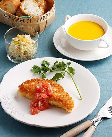 洋食・中華おかずの基本:4月のメニュー    ベターホームのお料理教室 ・このカツが美味しそうです