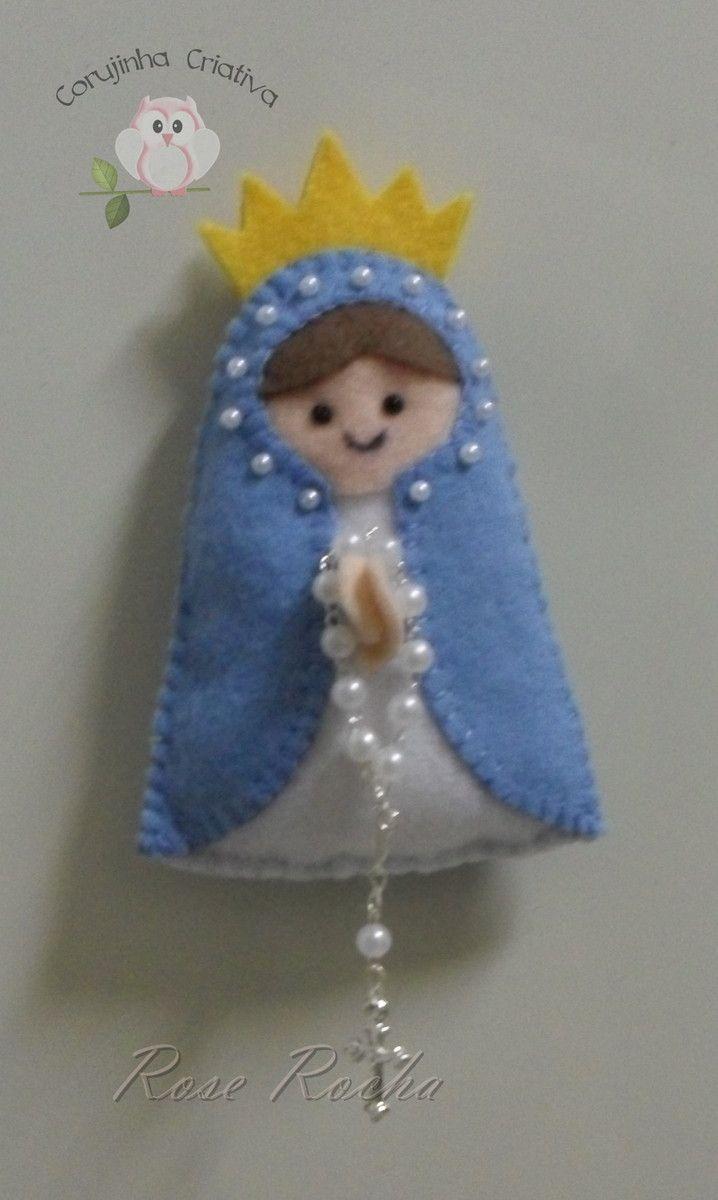 Lembrancinha De Nossa Senhora Das Graças Imã De Geladeira Para