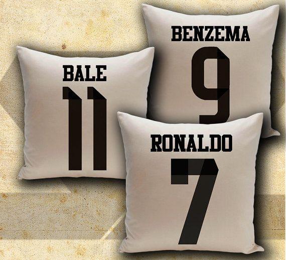 Real Madrid 3 Pillows Set Soccer Football Three By