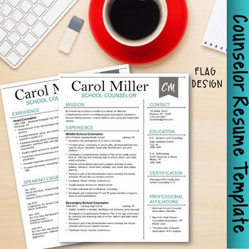 Counseling Resume Counselor Resume Templateflag Design  Perfect Resume Action .