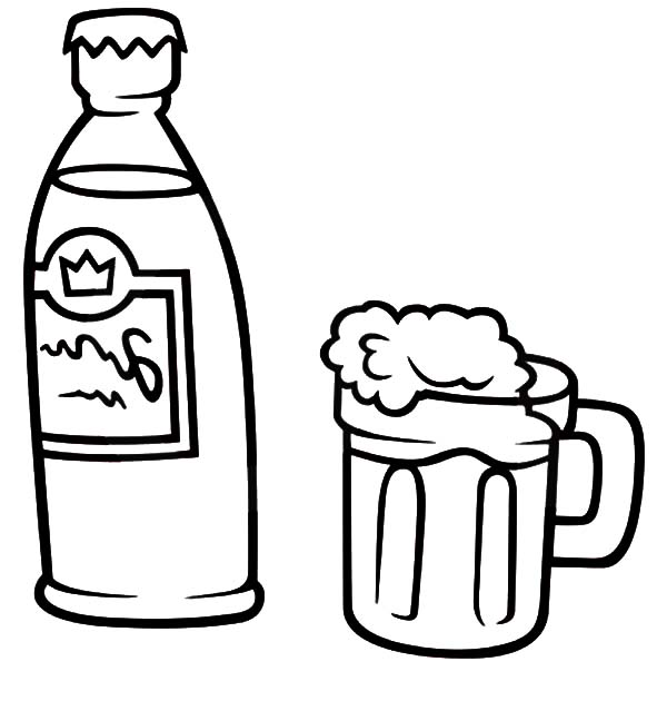 How To Draw Mug Beer Coloring Pages Best Place To Color Coloring Pages Beer Illustration Coloring Pages Inspirational