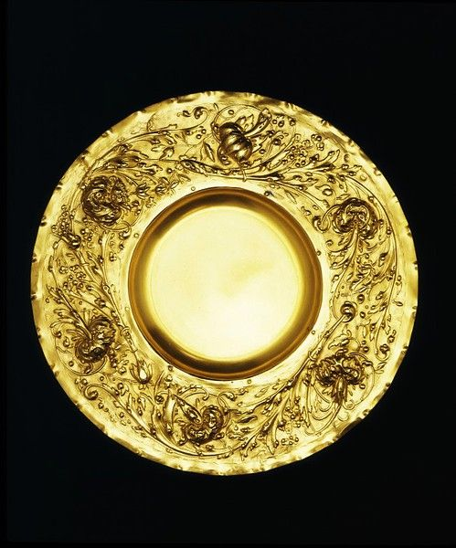 Electrotype, silver on copper, gilt salver. ca 1854