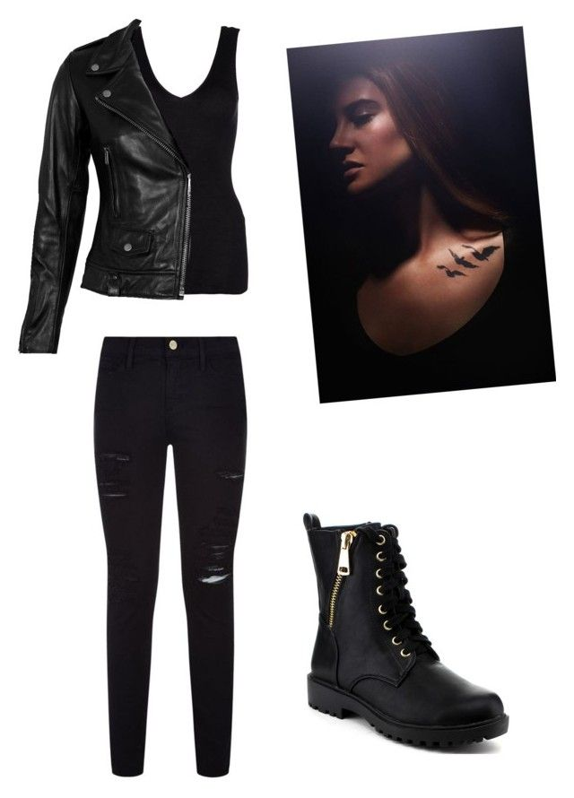 """""""Dauntless"""" by ergwood ❤ liked on Polyvore featuring Hanro, VIPARO, Frame Denim and Reneeze"""