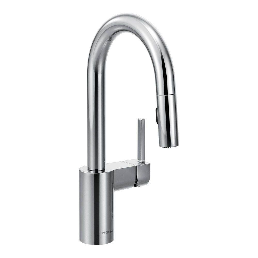 Kitchen: Elegant Design Spot Resist Stainless Moen Kitchen Faucet ...