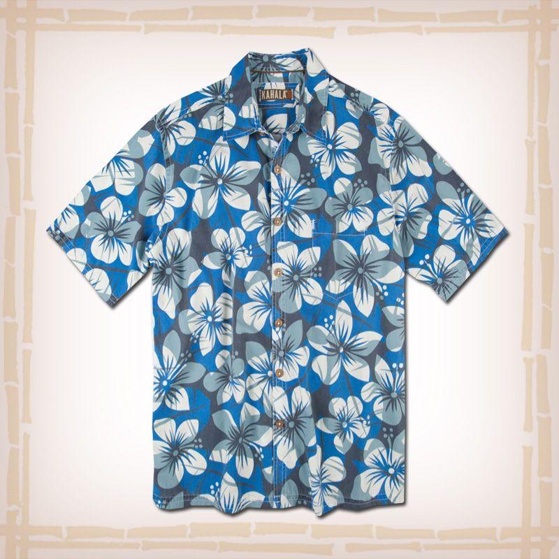 "Kahala Hawaiian Shirt ""Lihue"" -Pacific Blue| Coconut Buttons | Made In Hawaii | FREE SHIPPING - Every Order, Every day! | Hawaiian Shirt Dude"