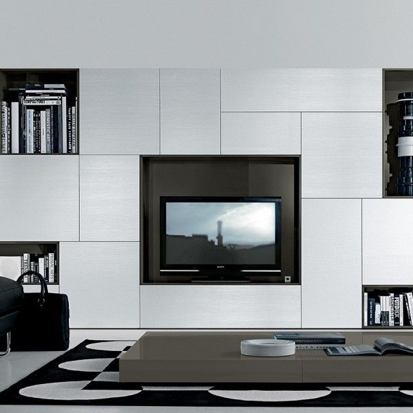 Tv And Storage Tv Unit Storage White Jesse Fci Contemporary Modern Furniture Modern Wall Units