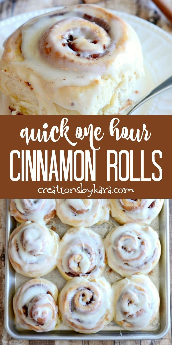 Quick Cinnamon Rolls with Cream Cheese Frosting -