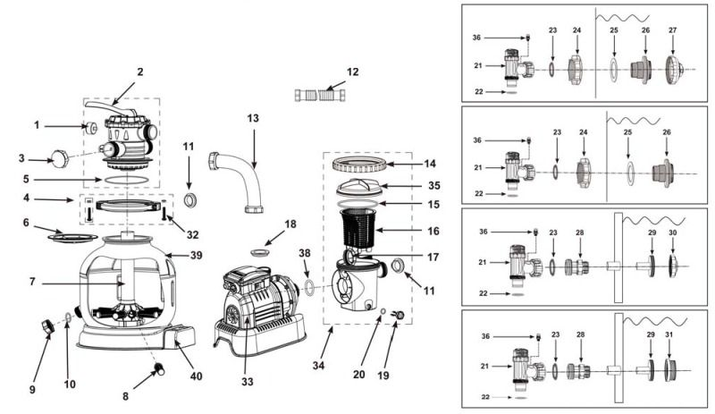 intex pump diagram