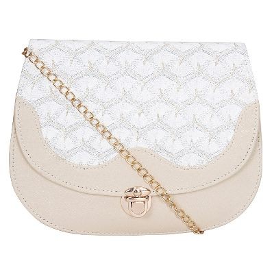 Buy Papsara Leatherette White Women Sling Bag by undefined, on ...