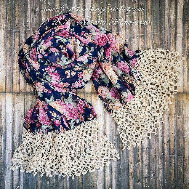 Drops Crochet Edging Pattern Love It Pinterest Crochet Edgings