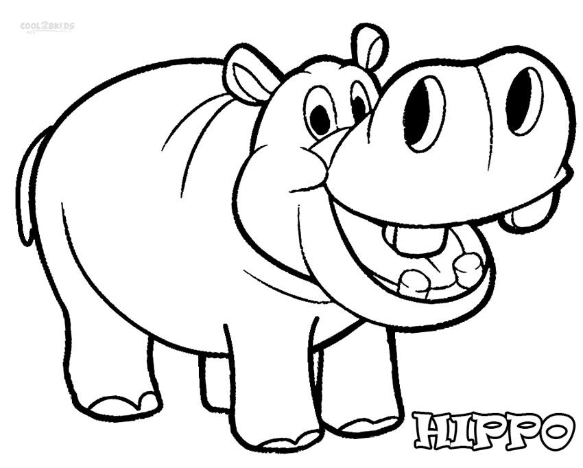 Bulky Mammals: #9 Hippopotamus Coloring Pages