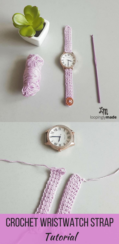 D I Y Crochet Wrist Watch Strap Tutorial In 2020 Jewelry