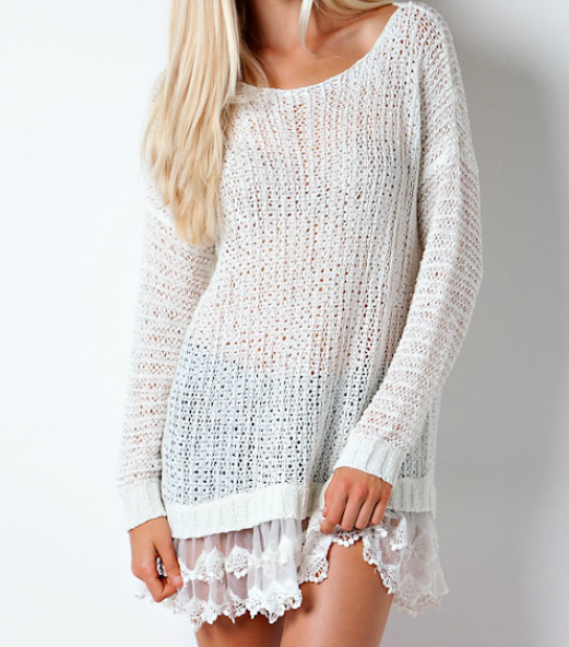 Lightweight semi-sheer sweater tunic, best worn with a cami ...