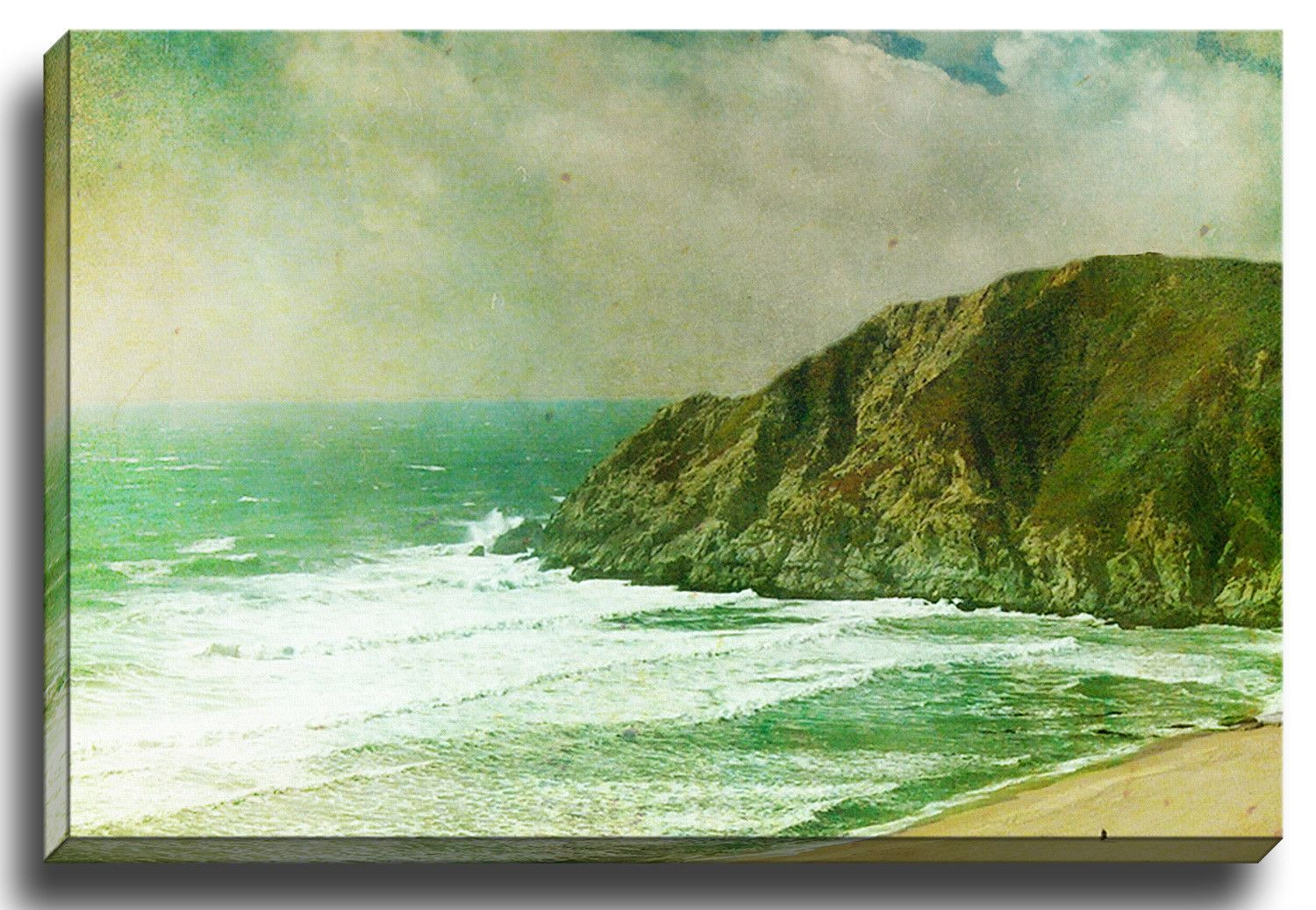 One with the Sea by Bomobob Photographic Print on Canvas