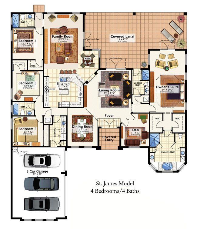 Centerline Homes - St. James - 3,106 sq ft - 4 bed - 4 bath ... on