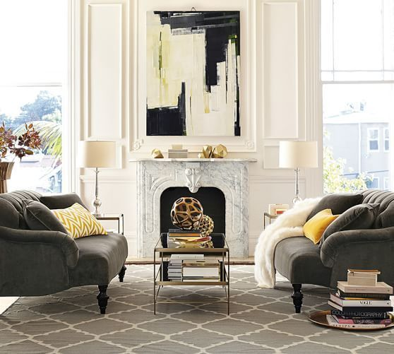 Pottery barn sofas in everyday velvet fabric in carbon color ...