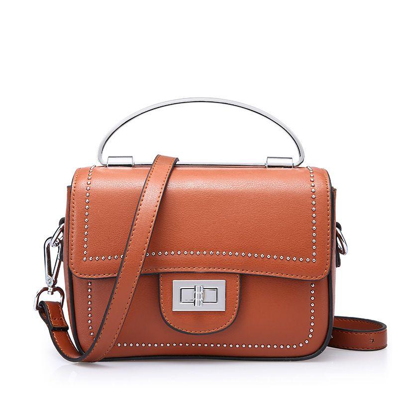 2018 popular Genuine Letaher designer fashion custom logo lady handbag  Leather Crossbody Bag 692d1e26cc355