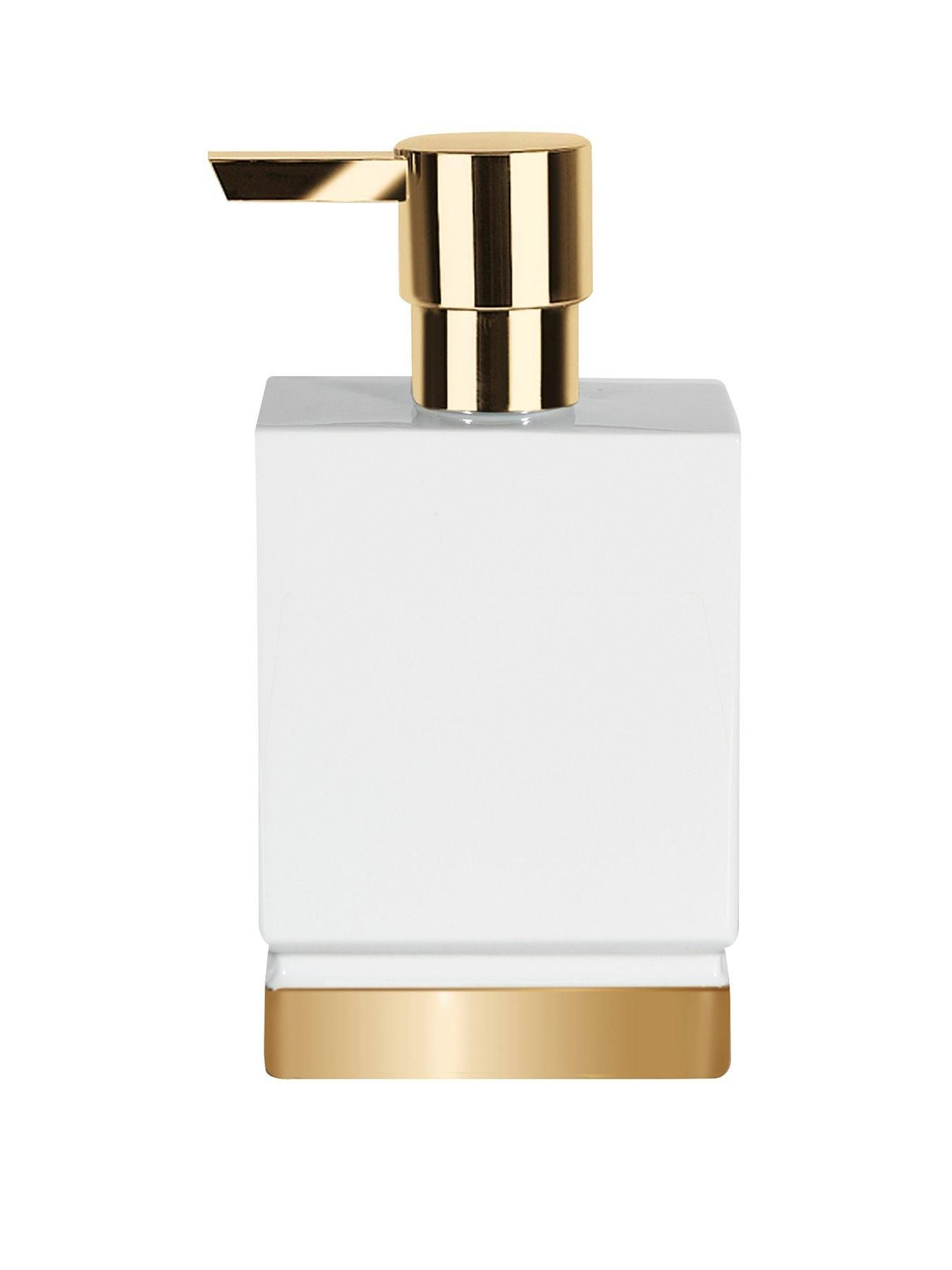 Roma Soap Dispenser in White and Gold | Bath, Bath accessories and ...