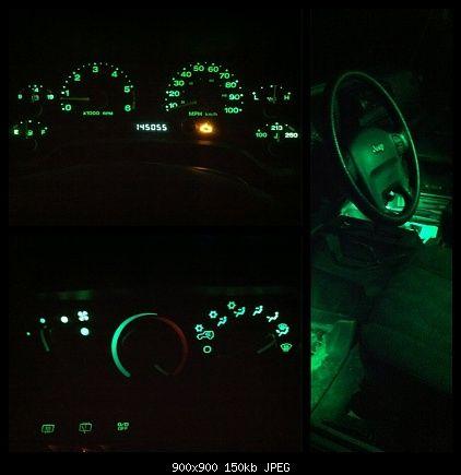 Green Interior Lights Super Easy Mod 2004 Jeep Wranger Tj