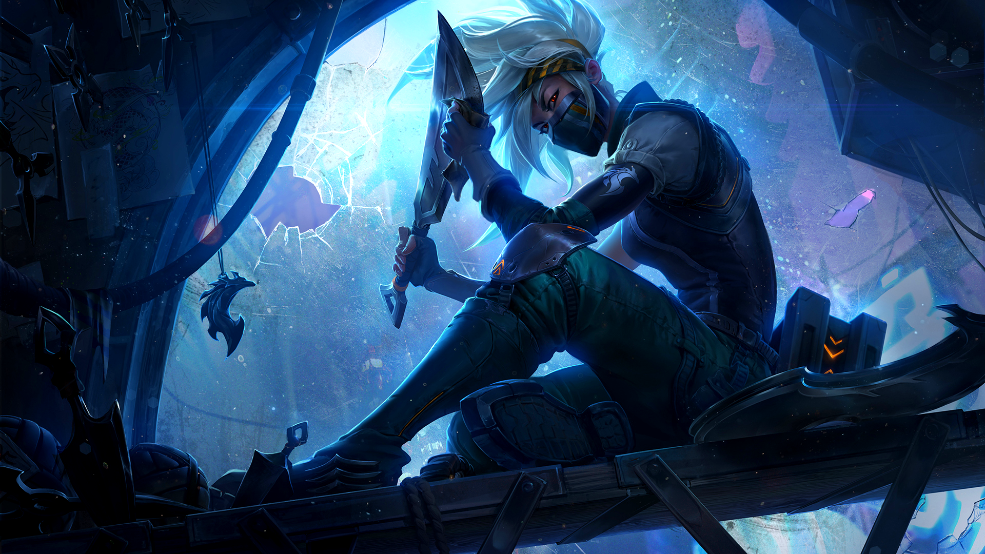 League Of Legends Lol Wallpaper Skins Akali Presas De Prata