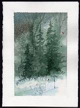 Watercolor Card Christmas ee cummings