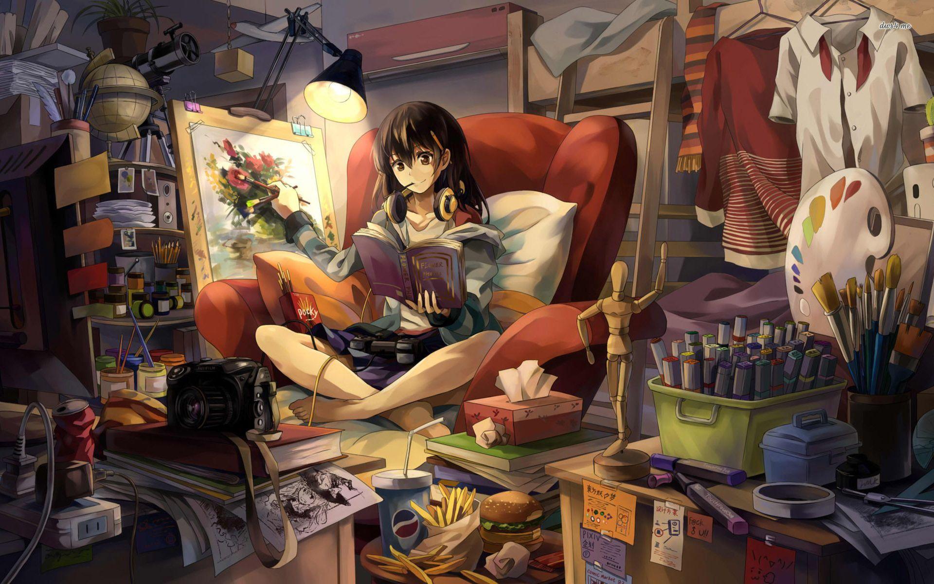 Anime Girls Writing Szukaj W Google