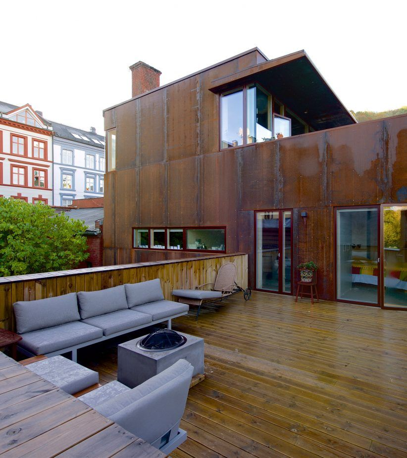 Rust House By Jarmund Vigsnaes Architects Studio Living In