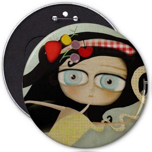 Alice im Wunderland-Knopf Button