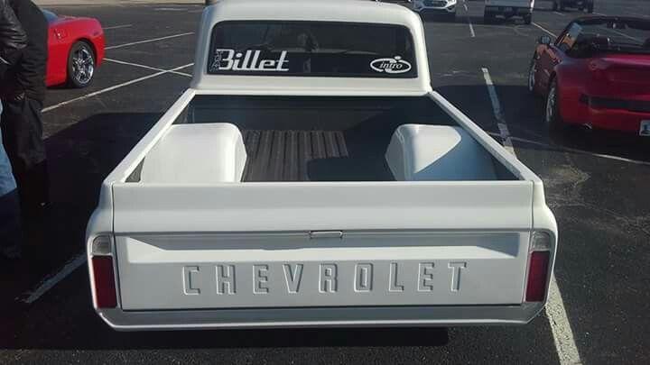 White 67 72 Chevy Truck Wide Wheel Tubs Chevy Trucks