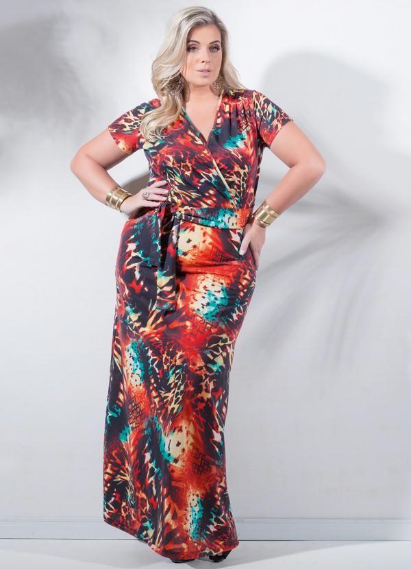3d4a473583 Marguerite Preview Vestido Longo Mix De Estampas Plus Size