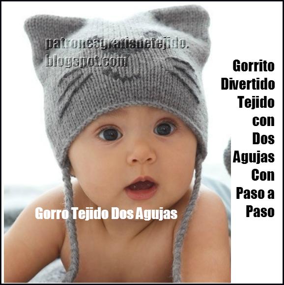 Cómo tejer un Gorro para Bebé Dos Agujas Paso a Paso  1777b9c4d7e