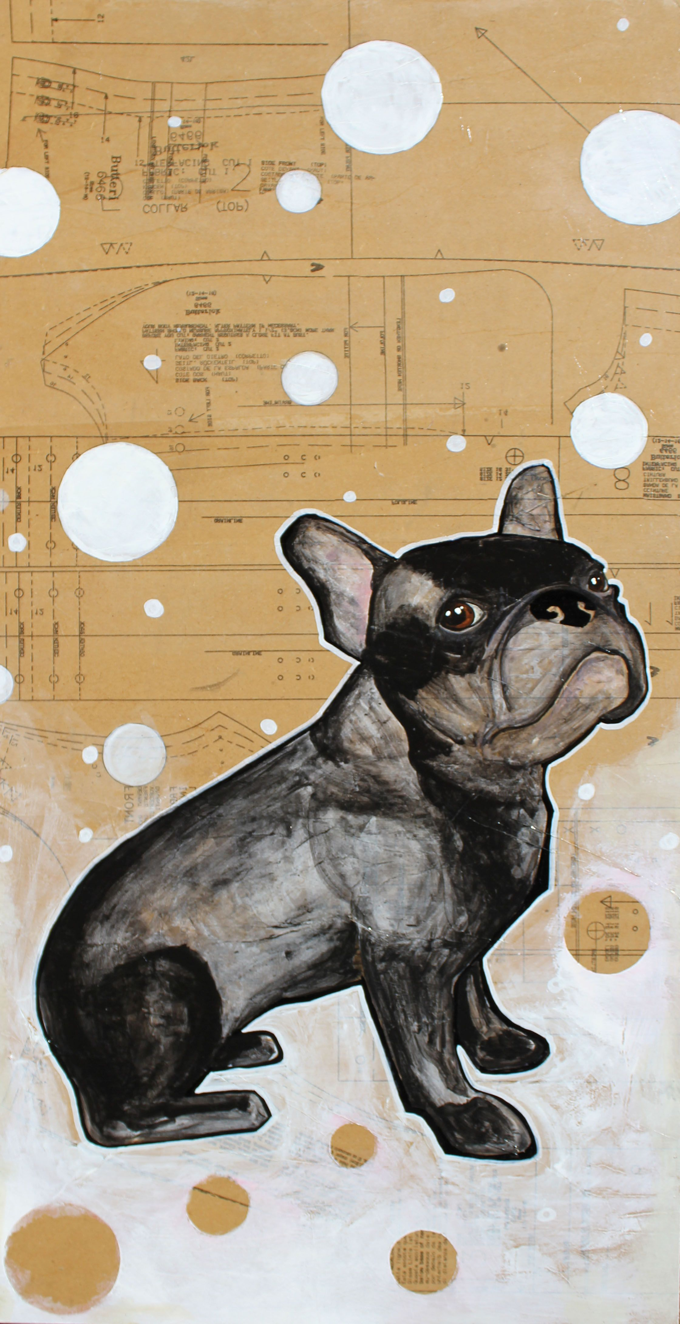 Otto Dog Portrait Painting French Bulldog French Bulldog