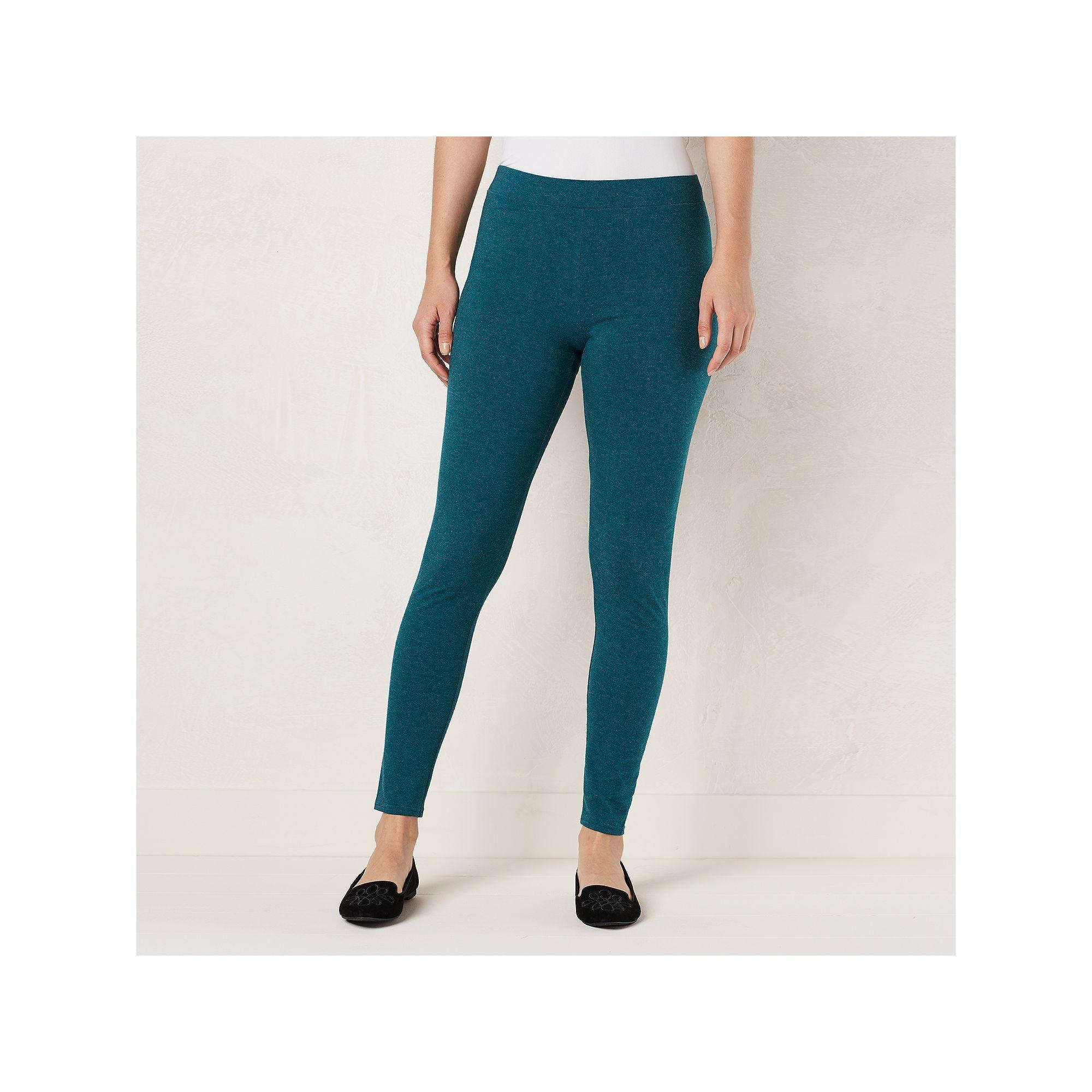 7a68918d17d5d Women's LC Lauren Conrad Heathered Legging, Size: Xxl Short, Turquoise/Blue  (Turq/Aqua)