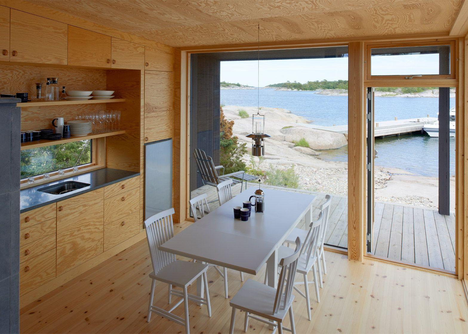 Swedish Homes Blackened Timber Holiday Homes Modelled On Swedish Fishing Huts