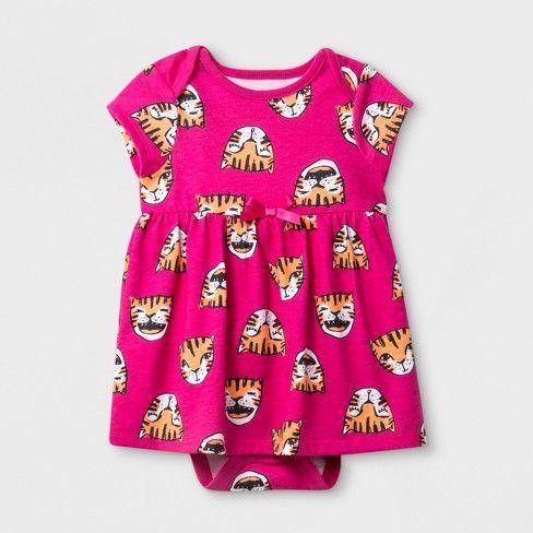 7c9e20247e Baby Girls' Ruffle A-Line Dress - Cat & Jack™ Pink : Target   tigers ...