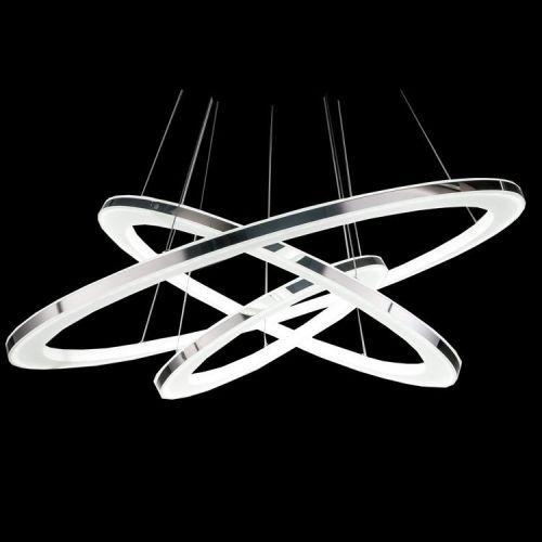 LED Night 3 Ringe Dimmbar Deckenlampe Deckenleuchte Kronleuchter In Mbel Wohnen Beleuchtung Deckenlampen