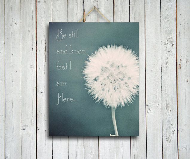Dandelion Artwork | Be Still Dandelion Canvas Canvas Art Be By  EmeraldTownRaven