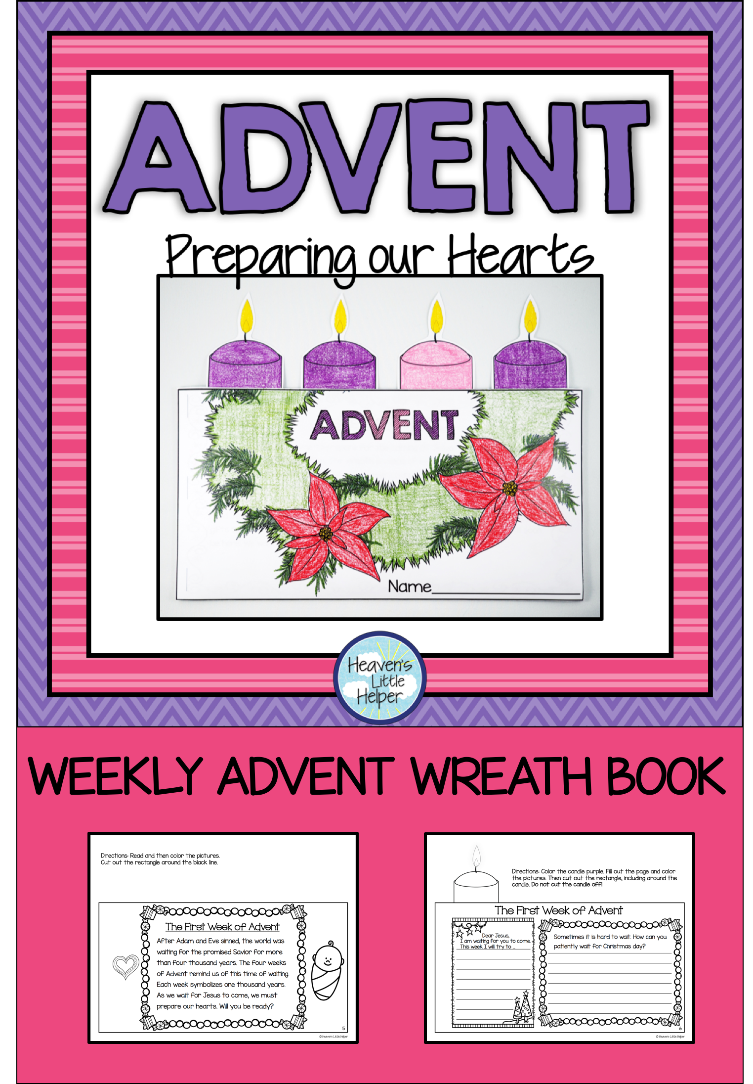 Advent Wreath Book Project | Activities, Advent wreaths and ...