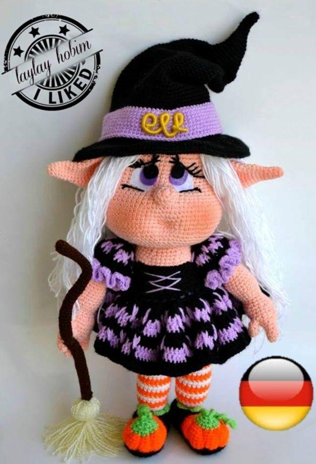 Puppen Witch Elf Deutsch Ein Designerstück Von Laylayhobim Bei