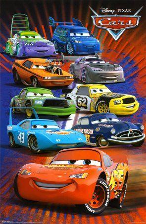Cars Racing Group Movie Poster Print 22x34 Poster Print 22x34