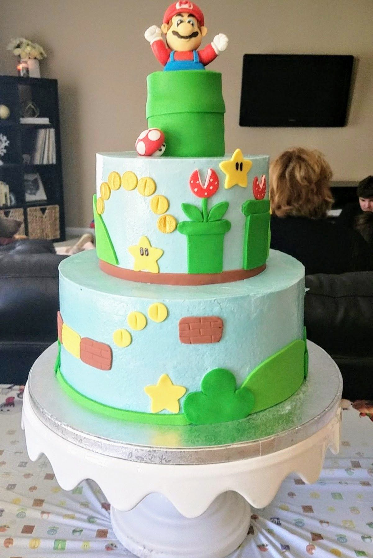 Super Mario Birthday Cake Baby Love Pinterest Mario