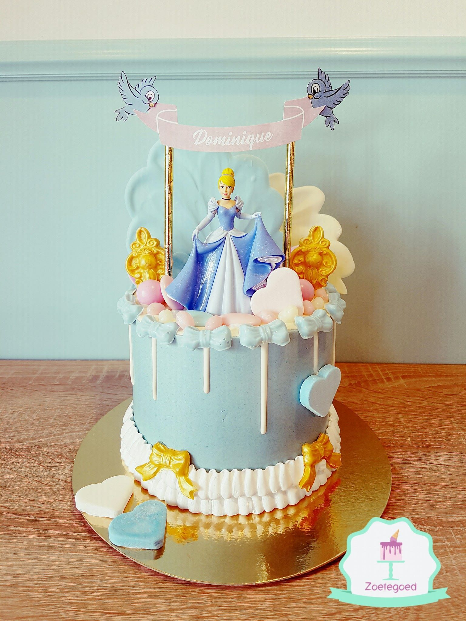 Outstanding Cinderella Disney Drip Cake Cinderella Birthday Cake Cinderella Personalised Birthday Cards Petedlily Jamesorg