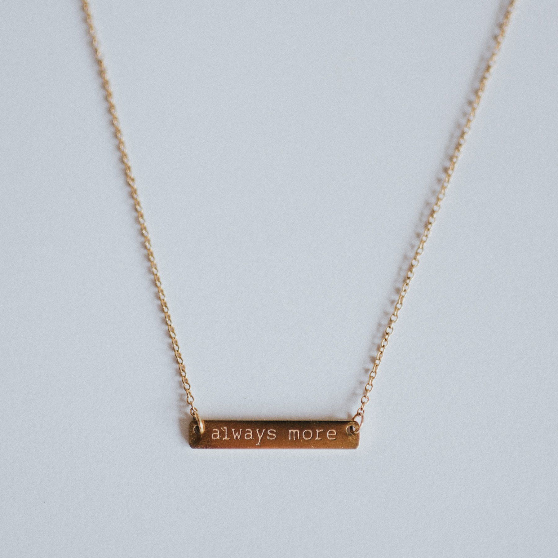 Always More Gold Bar Necklace