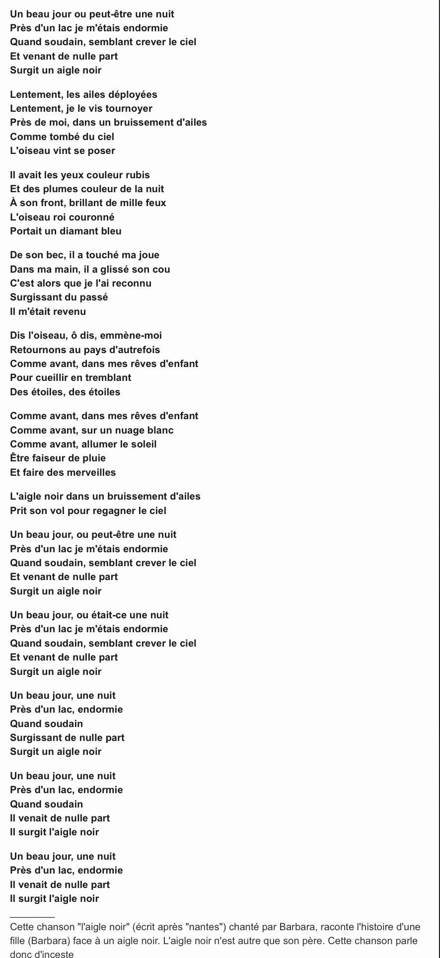 L Aigle Noir Paroles Signification : aigle, paroles, signification, Ještě, Pořád, Korporace, Interpretovat, Paroles, Chanson, Aigle, Camarillolittlethai.com