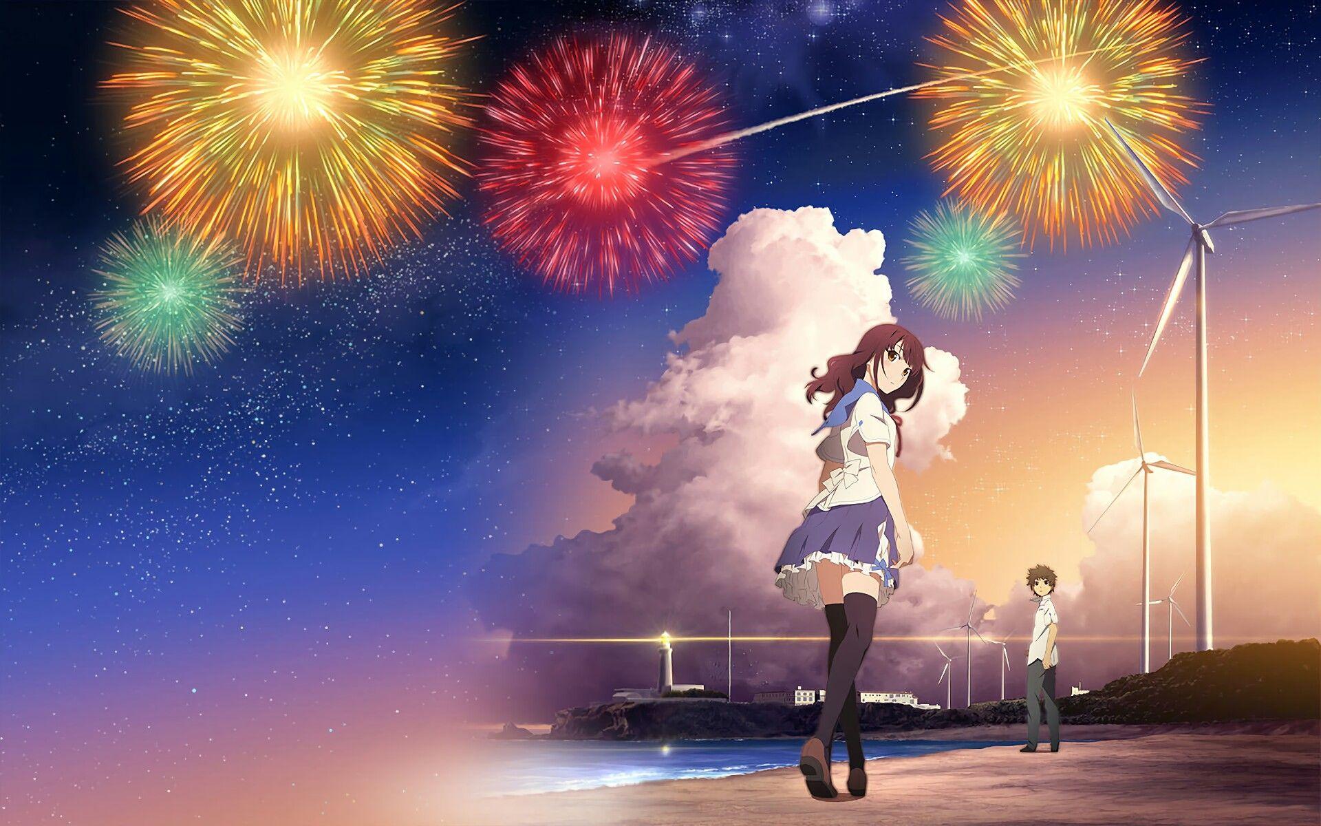 Pin By S C N On Anime Art Hanabi Anime Anime Movies Fireworks anime hd wallpaper